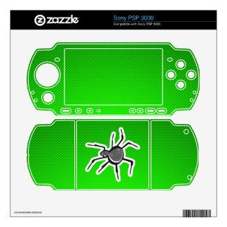Cute Spider; Green PSP 3000 Skins