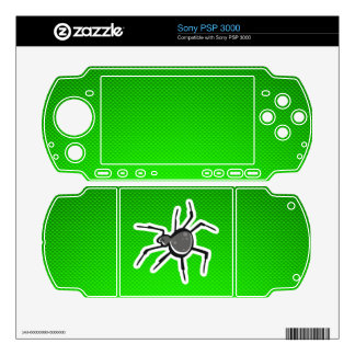 Cute Spider; Green Sony PSP 3000 Decal