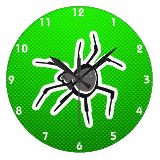 Cute Spider; Green Wall Clocks