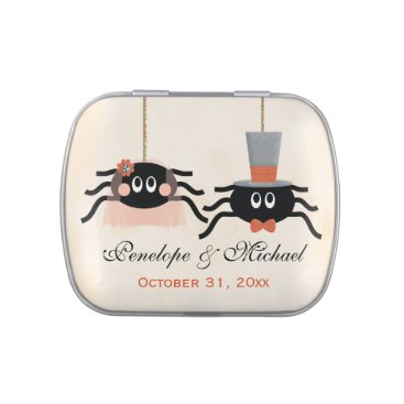 Halloween Themed Cute Spider Halloween Wedding Favor Jelly Belly Candy Tin
