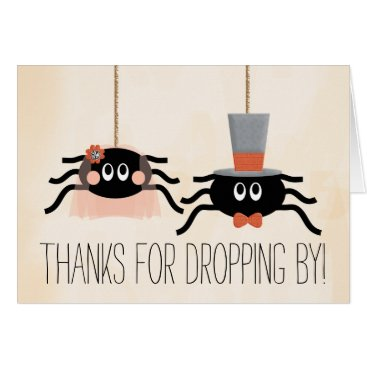 Halloween Themed Cute Spider Halloween Wedding Thank You Cards
