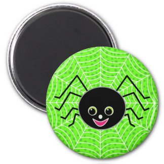 Cute Spider on Web Magnet