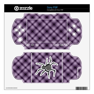 Cute Spider; Purple Decal For The Sony PSP