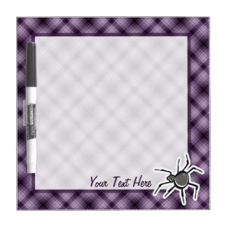 Cute Spider; Purple Dry Erase Board