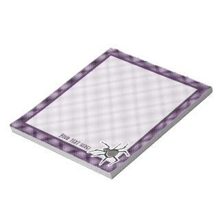 Cute Spider; Purple Memo Pads