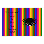 Cute spider rainbow stripes personalized announcement
