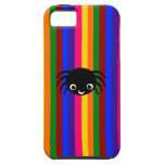 Cute spider rainbow stripes iPhone 5 case