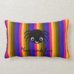Cute spider rainbow stripes pillows