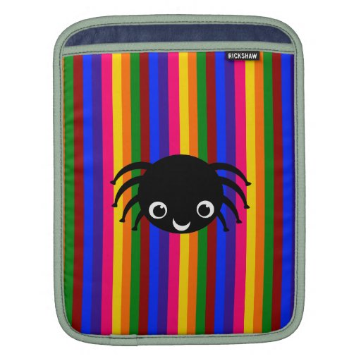 Cute spider rainbow stripes sleeve for iPads