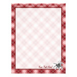 Cute Spider; Red Plaid Personalized Letterhead