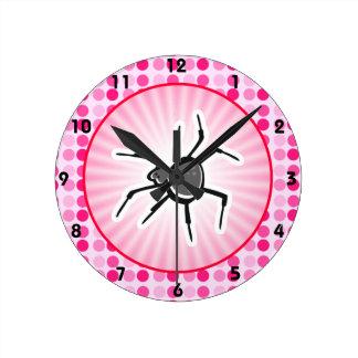 Cute Spider Round Wallclock