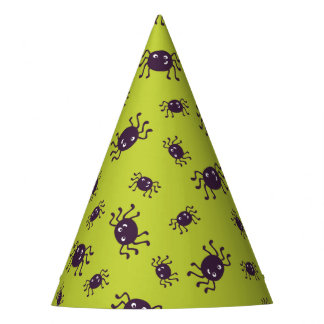 Cute spiders pattern party hat