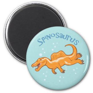 Cute Spinosaurus 2 Inch Round Magnet