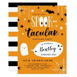Cute Spooktacular Kids Halloween Birthday Invitation