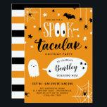 "Cute Spooktacular Kids Halloween Birthday Invitation<br><div class=""desc"">Cute Halloween birthday party invitation with Spooktacular written in a combination of fun fonts, the double o"