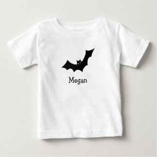 Cute spooky bat personalized with childs name baby T-Shirt