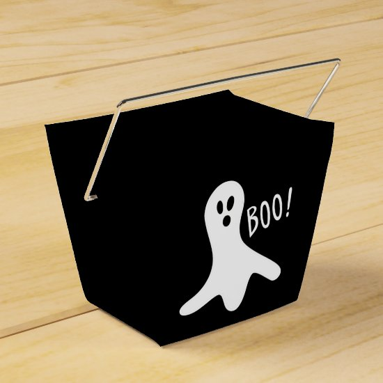 Cute Spooky Ghost Boo Halloween Favor Boxes