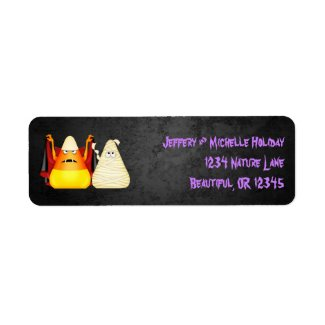 Cute Spooky Halloween Candy Corn Address Labels