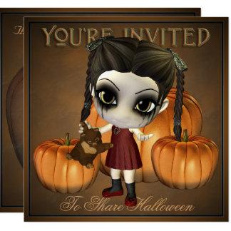 Cute Spooky Halloween Kid Invitation