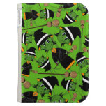 Cute Spooky Halloween Witch Pattern Kindle Folio Case