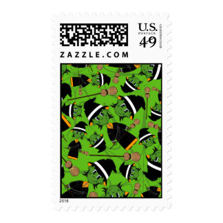 Cute Spooky Halloween Witch Pattern Stamp