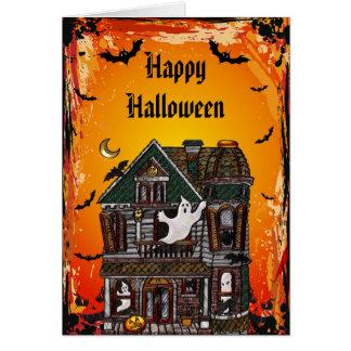 Cute Spooky Haunted House Jewels Halloween Card
