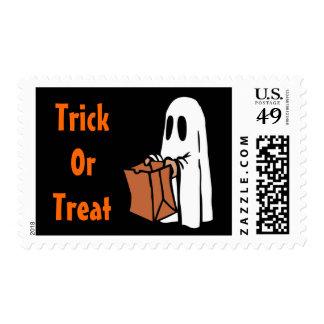 Cute Spooky Little Ghost Halloween Trick or Treat Postage