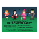 Cute Spooky Monsters Halloween Party 4.5x6.25 Paper Invitation Card