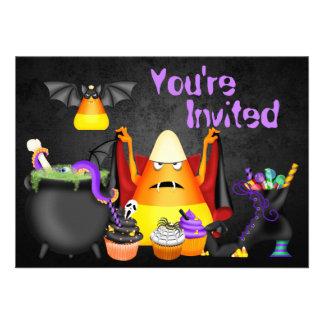 Cute Spooky Treats Halloween Birthday Party Invite