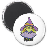 cute spooky witch refrigerator magnets