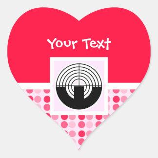 Cute Sport Shooting Heart Sticker