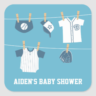 Cute Sports Clothes Baseball Baby Shower Stickers