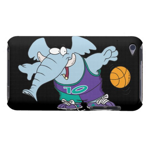 cute sporty dribbling basketball elephant iPod touch Case-Mate case