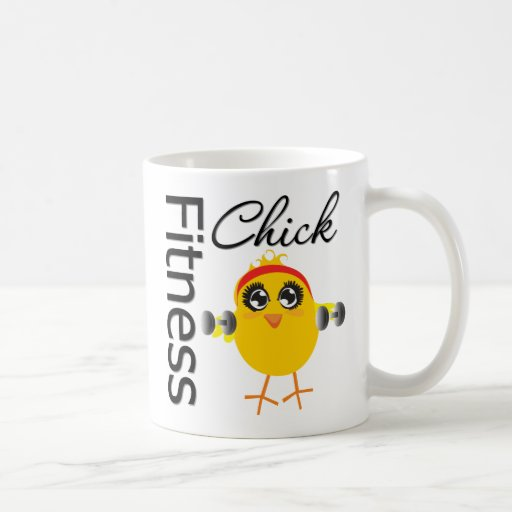Cute Sporty Fitness Chick Coffee Mug