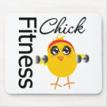 Cute Sporty Fitness Chick Mouse Pad