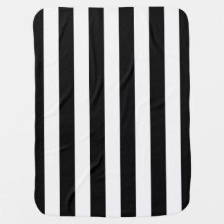 Cute Sporty Referee Stripes Swaddle Blanket
