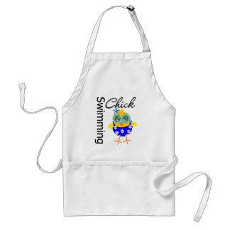 Cute Sporty Swimming Chick Adult Apron