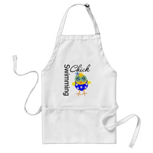 Cute Sporty Swimming Chick Aprons