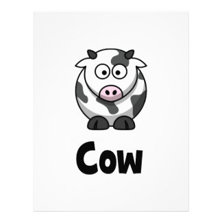 Cute Spotted Cow Letterhead