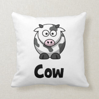 Cute Spotted Cow Throw Pillow