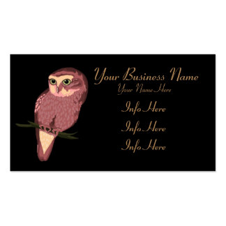 Cute Spotted Owl Business Card