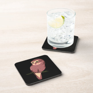 Cute Spotted Owl Drink Coaster