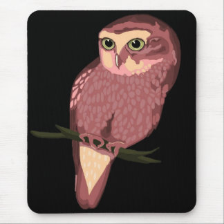 Cute Spotted Owl Mouse Pad