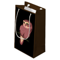 Cute Spotted Owl Small Gift Bag