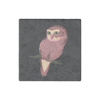 Cute Spotted Owl Stone Magnet