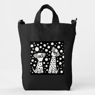 Cute Spotted Puppy Dog Abstract Art BAGGU Duck Bag