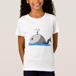 Cute Spouting Cartoon Whale T-Shirt