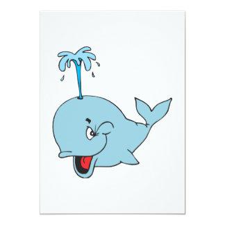cute spouting whale card
