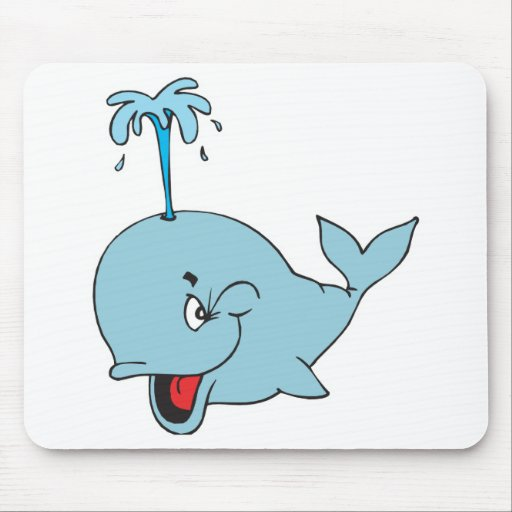 cute spouting whale mouse pad