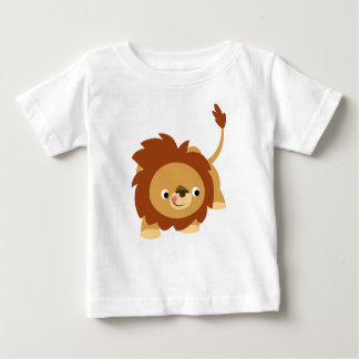 Cute Sprightly Cartoon Lion Baby T-Shirt